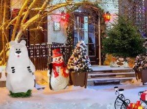 Как украсить дом (снаружи) и приусадебный участок к Новому году